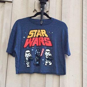 Vintage Retro Star Wars Pixel Graphic Crop Top